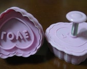 Love Heart Cookie Cutter 3D Heart Cookie Mold Cake Mold Plastic Baking Mold Animal Cookie Cutters
