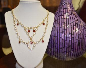 Glamorous Swarovski Crystals Necklace