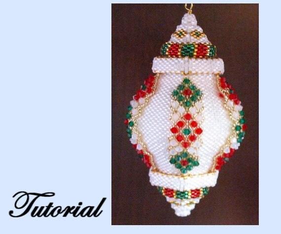 Wonderful Diy Ribbon Beads Christmas Tree: The Vertical Ribbon Sparkler Beaded Ornament