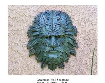 Greenman Wall Sculpture.