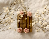 Elizabeth: The Delicate Rose Clips / / hair pin set, flower pins, flower hair pins, hair pins - LaRosetteParisienne