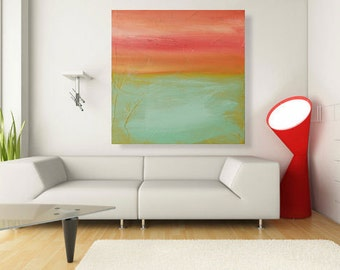 Acrylic Painting Large Painting abstract art  Landscape Painting -30x30- By Ava Avadon