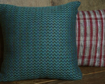 Green ZigZag Cushion