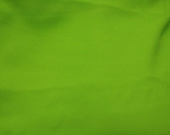 Lime Green Gabardine Fabric by the yard