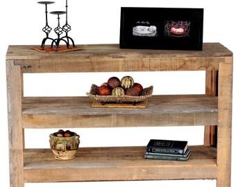 Reclaimed Oak: Console Table (two shelves)