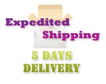 Upgrade to Expedited shipping, Express Shipping : 5 days delivery