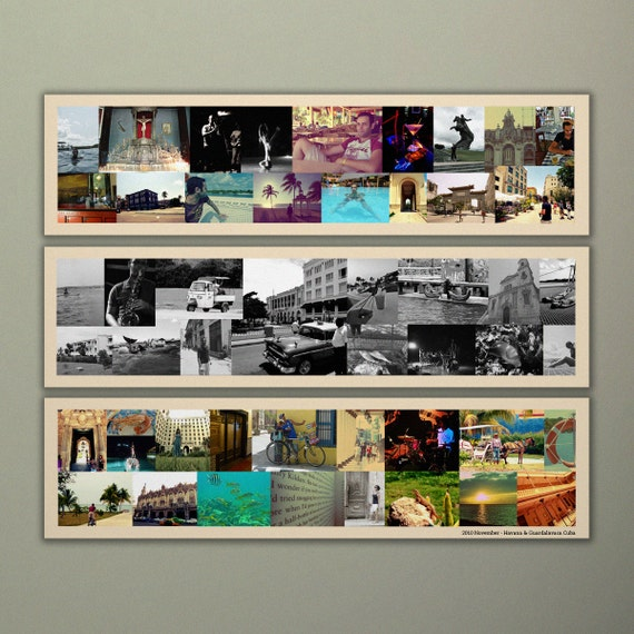 cool photo collage ideas ppt - Bespoke Three Panel Collage on by BespokeCollageCanvas