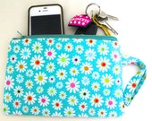 Zipper Pouch with Wristlet,Makeup pouch,Holds pencils.