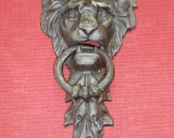 Cast Iron Lion Head Door Knocker