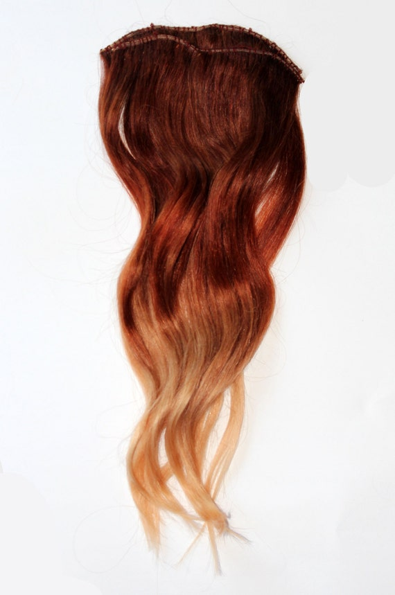 Red To Blonde Ombre Hair Extensions 90