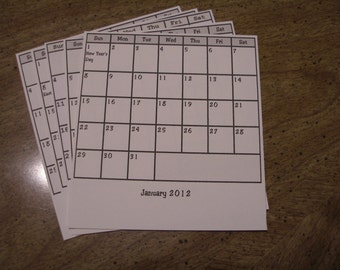 Desk Calendar Refill Pages