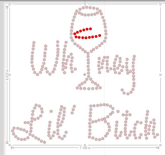 Pre cut sticky flock rhinestone template whiney by for Sticky flock pre cut templates