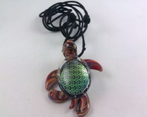 Turtle (Image) - Glass Necklace
