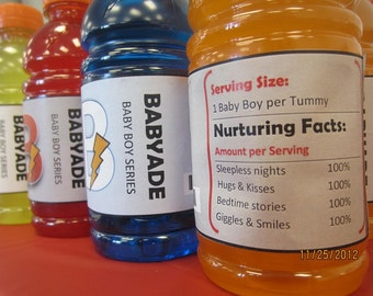 Gatorade Labels for Boy Sports-themed Shower