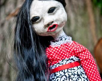Hand-made Creepy Art Doll, Marydeath
