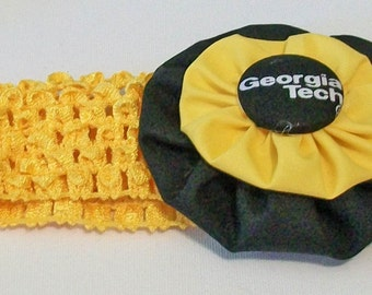 Georgia Tech Yellow Jackets Inspired Gold and Black Yo Yo and Stretchy Headband