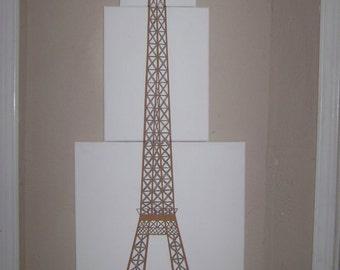 Eiffel Tower Acrylic Painting 3 1/2 Feet tall