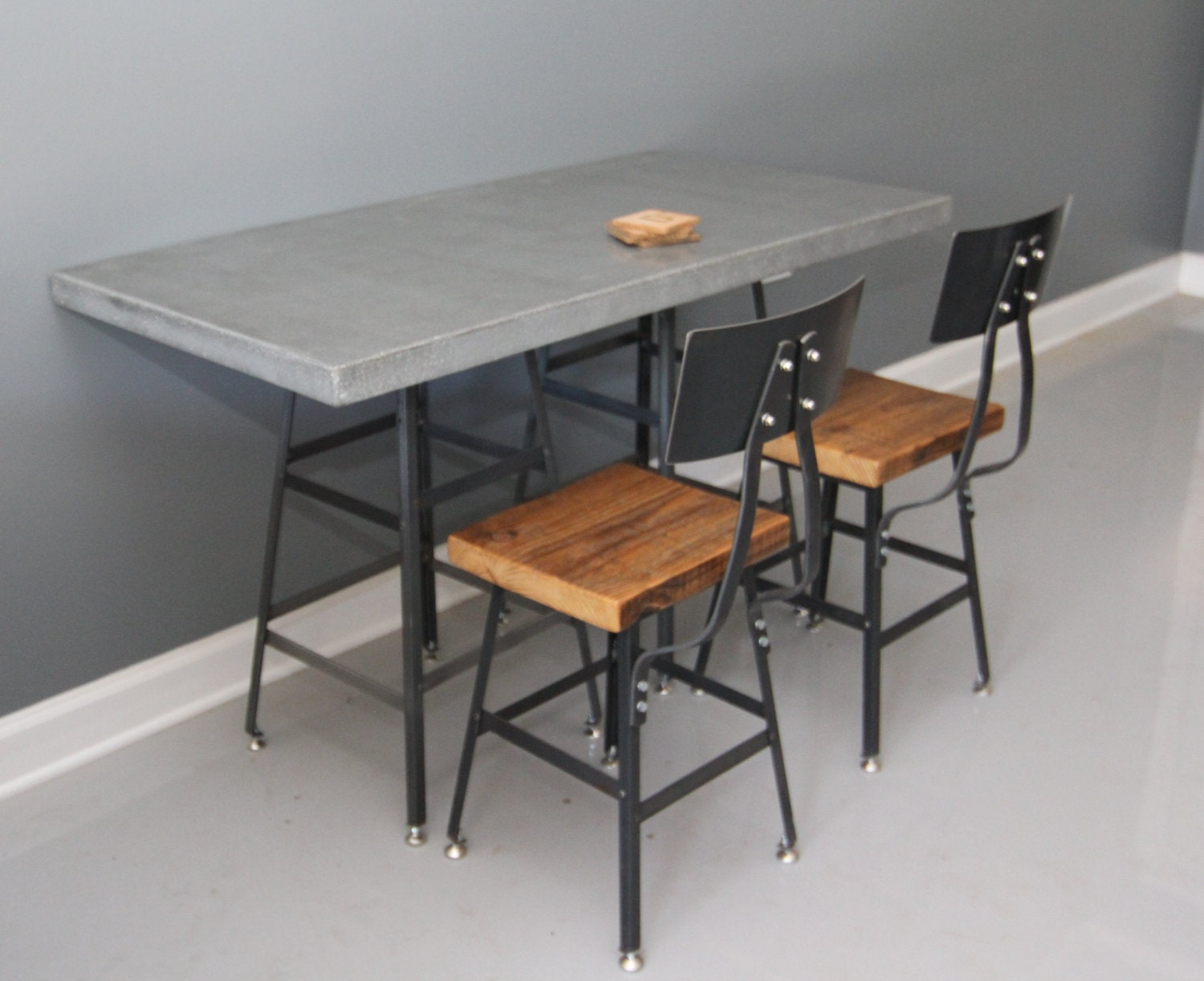 concrete dining table concrete kitchen table concrete by
