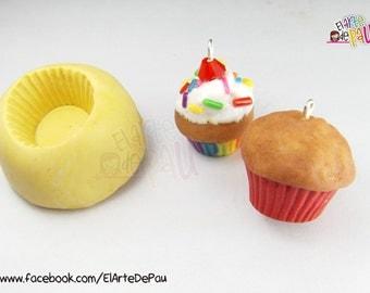 Flexible silicone cupcake mold / mould flexible silicone cupcake or madalena
