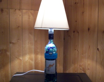 Yellow Tail Moscato Bottle Lamp