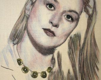 Portrait of Meryl Streep.