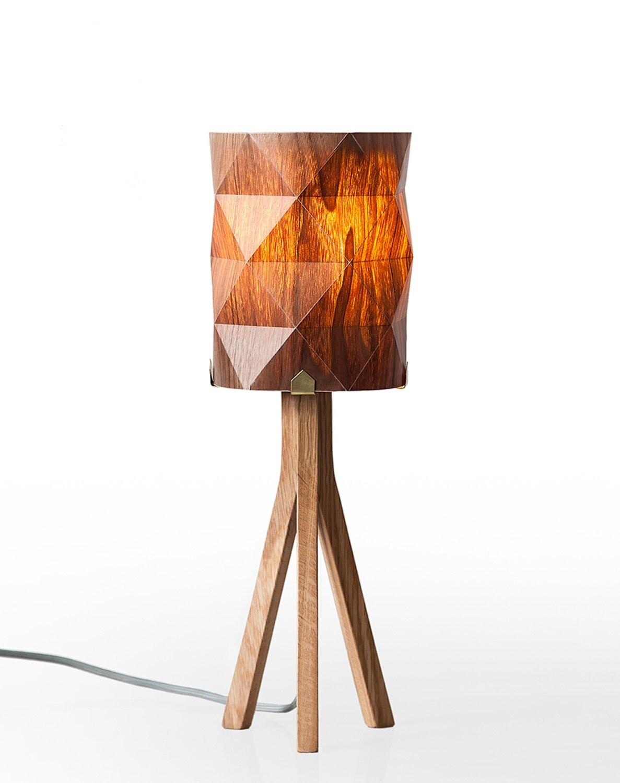 Handmade veneer lighting high end design table lamp natural - Hand made lamps ...