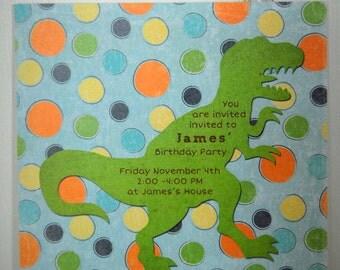 CUSTOM Printable Party Invitation - T-Rex (Dinosaur)