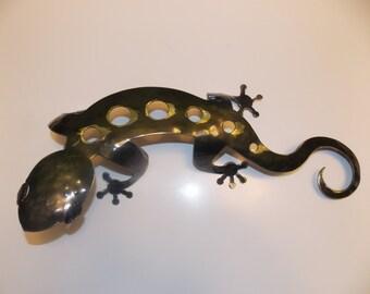 Large Gecko Lizard Metal Sculpture