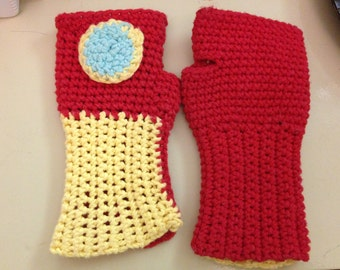 Iron Man Fingerless Gloves Pattern