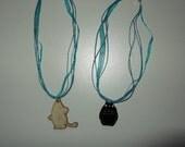 Retro Moomin necklace or Totoro necklace