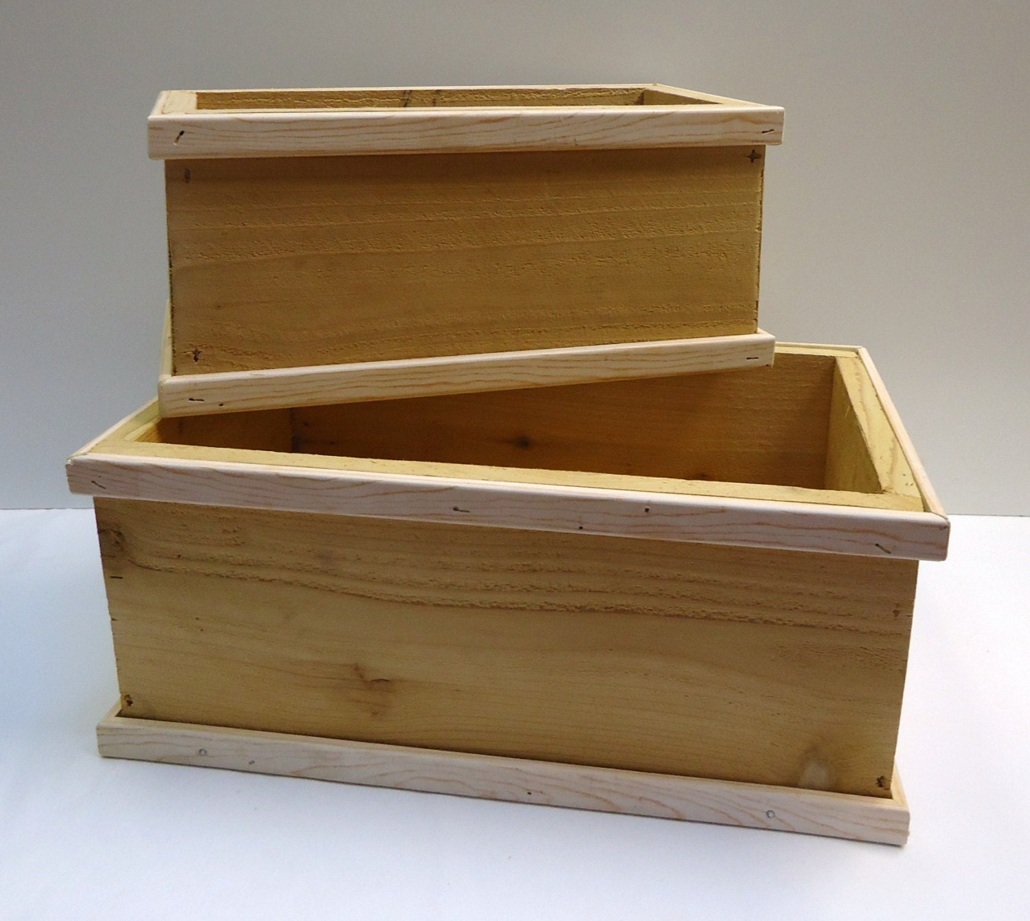 Planter Boxes Cedar Wood Outdoor Plant Boxes Set