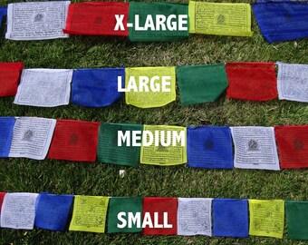 25 Tibetan Buddhist Prayer Flags Cotton LARGE