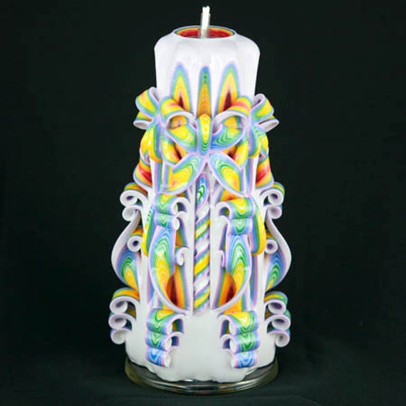 Christmas candle colorful by newyorkcandlefactory