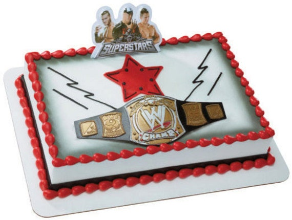 Wwe Wrestling Birthday Cake Topper