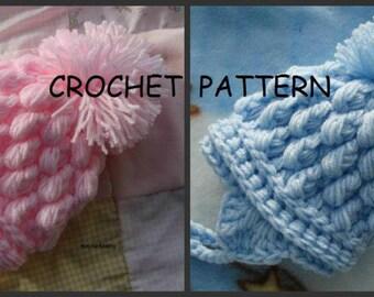 PDF Crochet Pattern for Pom Pom Hat