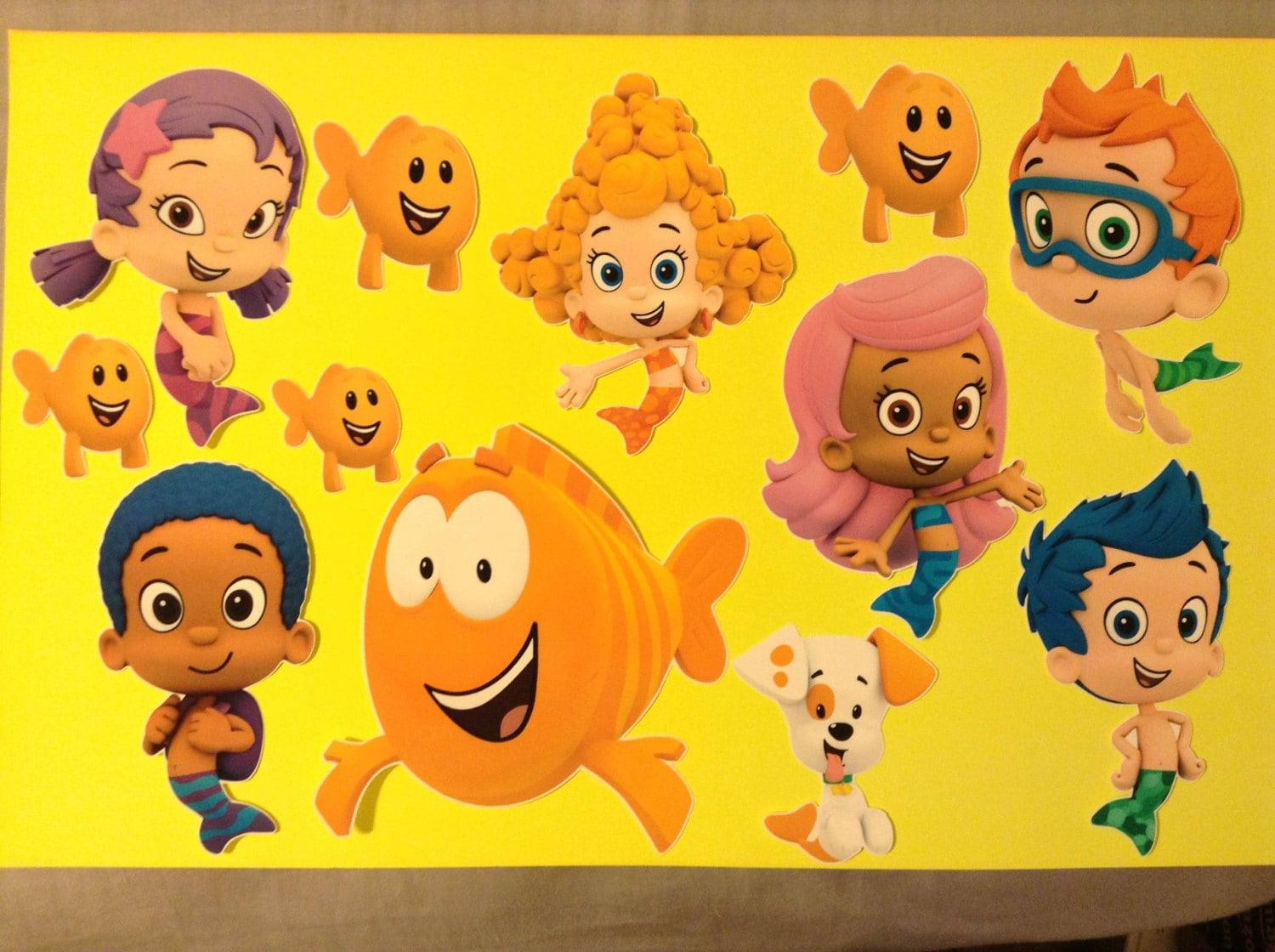 Set of 7 bubble guppies removable wall decal stickers 6 - Bubulles guppies ...