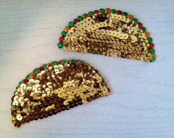 Handmade Sequined Taco Pasties