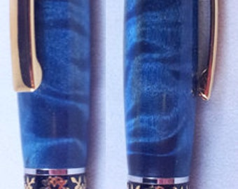 Luxury Executive Ballpoint Pen in Quilted Poplar