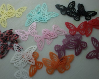12 Large Butterfly Cake Toppers, Various Colours Available, Edible