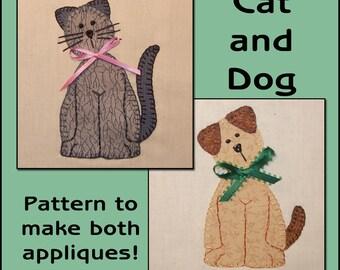 Cat & Dog Applique Templates - Cat Applique Pattern - Dog Applique Template - Sewing Pattern, PDF Pattern, DIY