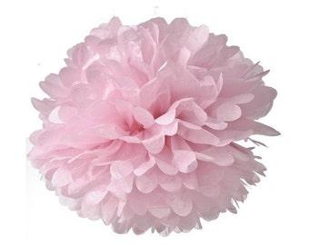 Decorazione-Pom pom di carta rosa/Light Pink pom pom paper decoration