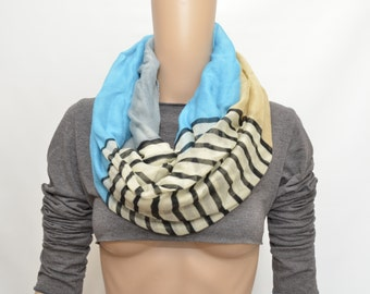 Multicolor stripes infinity scarf