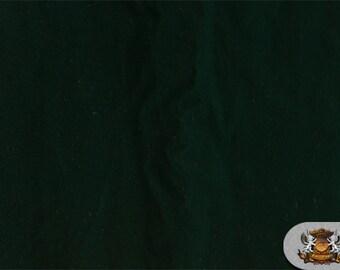 "Triple Velvet Dark Hunter Green Fabric / 44"" Wide / Sold By The Yard"