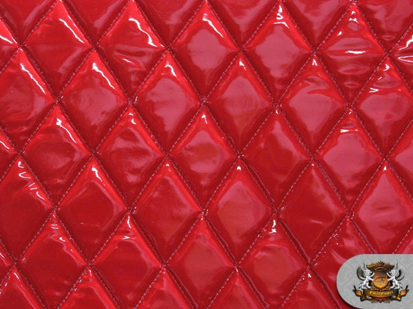 Vinyl Quilted Foam Glossy Red Fabric W 3 8 Quot Foam Backing