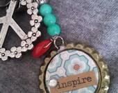 Inspire Peace Keychain