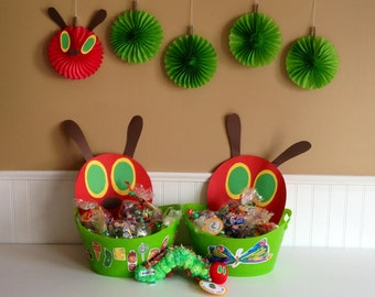 The Very Hungry Caterpillar Hanging Paper Fan Decoration - Ready to Ship