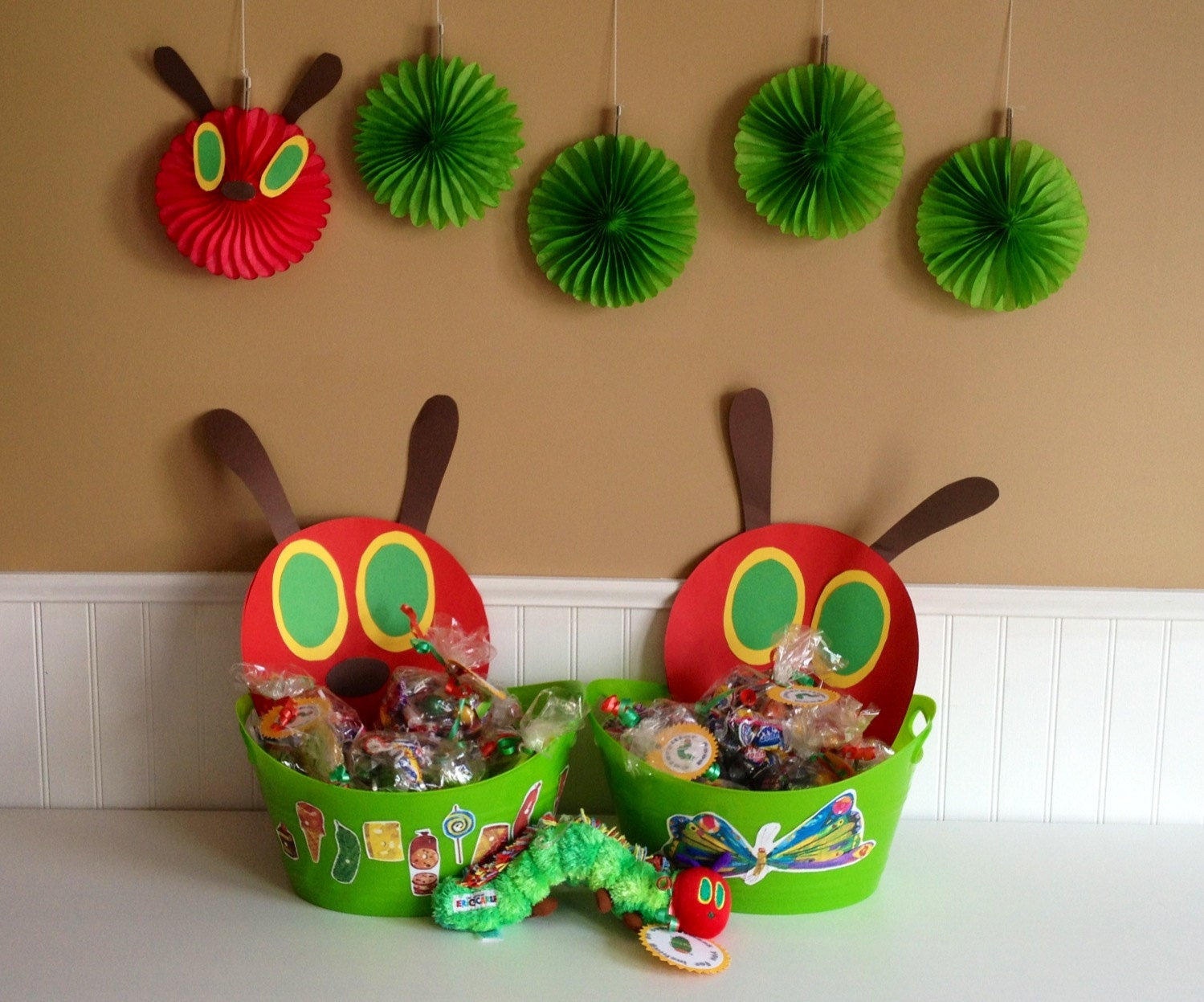 The Very Hungry Caterpillar Hanging Paper Fan By