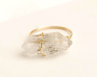 natural  crystal ring crystal quartz ring natural  stone jewelry personalized ring wholesale