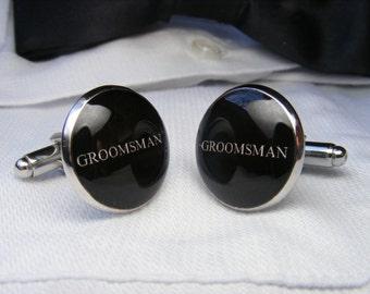 Groomsman Cufflinks - Custom Cufflinks - Best Man Accessories - Jewelry for Men Wedding Cufflinks - Gift for Men - Groomsman Gift - Weddings