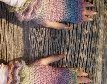 BLACK FRIDAY SALE!  S size Fingerless Gloves, Crocheted women gloves, winter gloves, knit fingerless